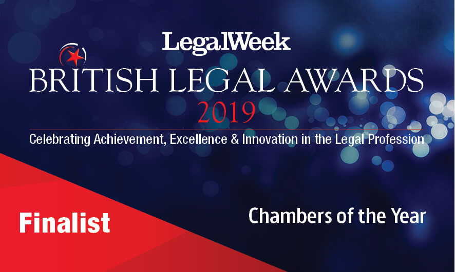 XXIV shortlisted for Chambers of the Year at The British Legal Awards