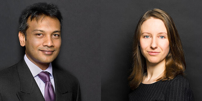 Bajul Shah and Heather Murphy speaking at aviation webinars
