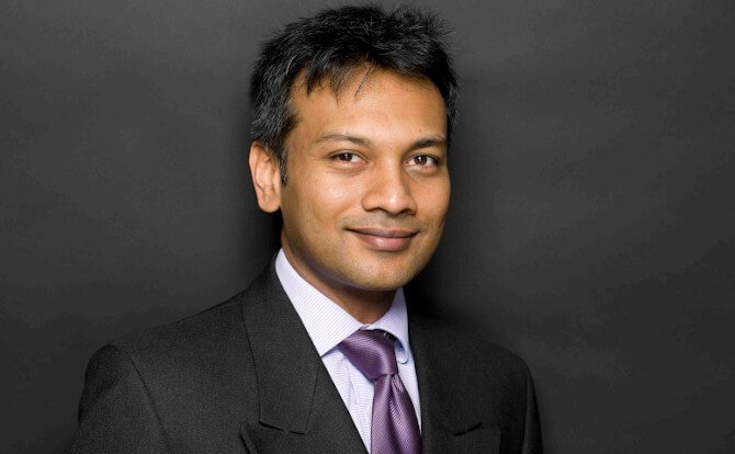 Bajul Shah speaking on the legal aspects of aircraft leasing in AeroPodium webinar