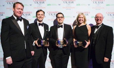 Edward Cumming wins Chancery Junior of the Year at Chambers UK Bar Awards 2016