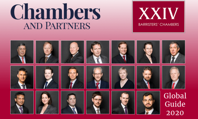 """Top-notch"" XXIV Old Buildings ranked as Leading Set in Chambers Global 2020"