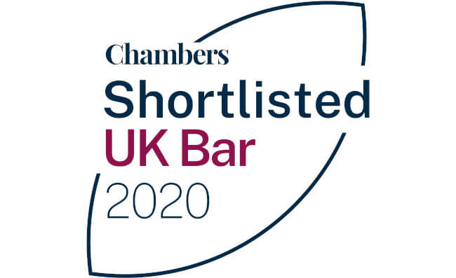 Edward Cumming QC and Elizabeth Weaver shortlisted in the Chambers Bar Awards 2020