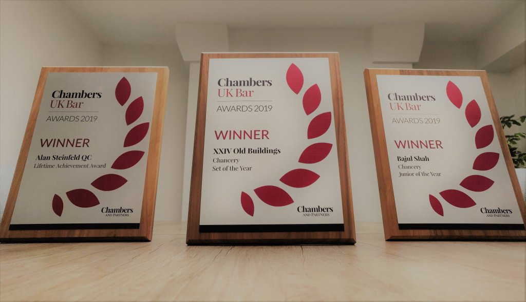 Triple success for XXIV at Chambers UK Bar Awards