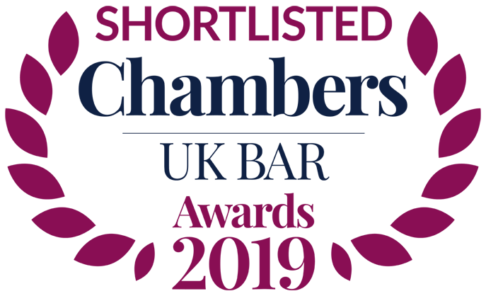 Chambers UK BAR Awards 2019: XXIV shortlisted for 2 Awards