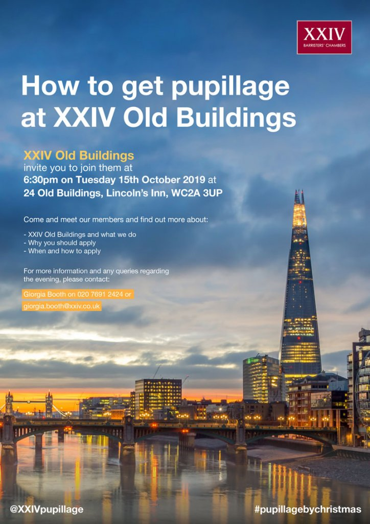 Pupillage Evening 2019